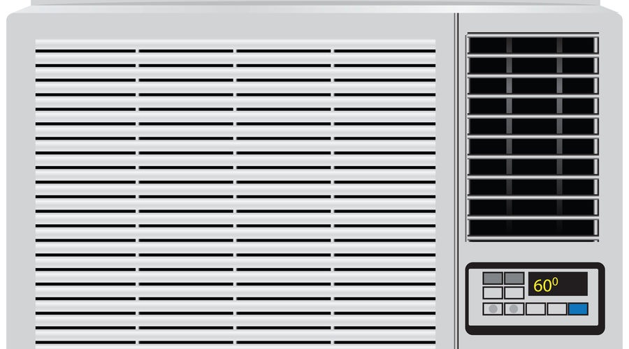 illustration of a cheap window air conditioner