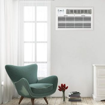 the best through the wall air conditioner with heat installed in a living room