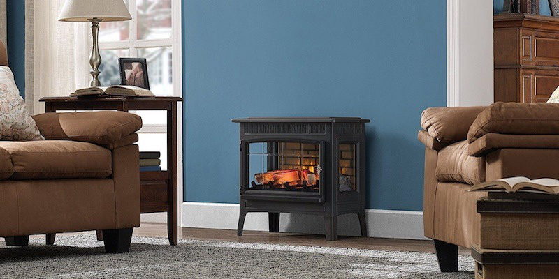 Using wood stove as energy efficient space heater for large room