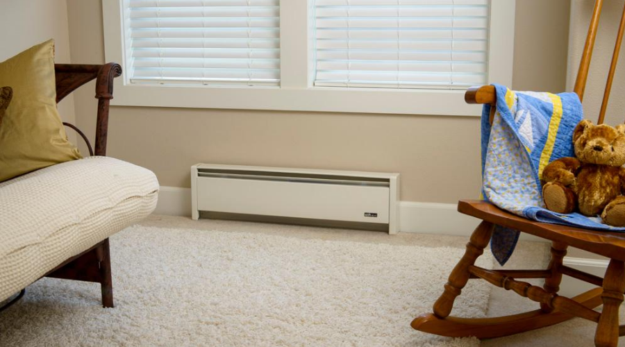 the most efficient electric baseboard heater installed in a living room