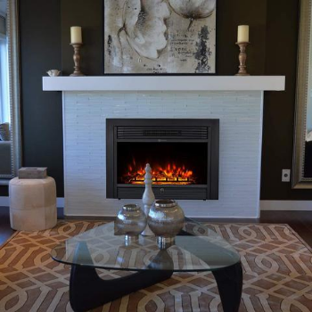 Can you leave the most energy efficient electric fireplace on all night
