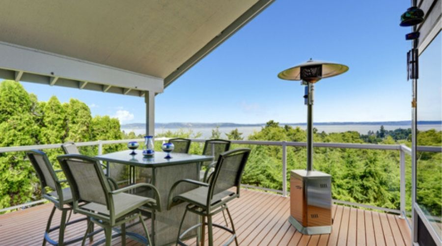 using the best natural gas patio heater on a deck