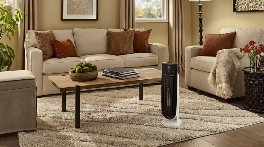 best portable heaters for large rooms in a modern living room