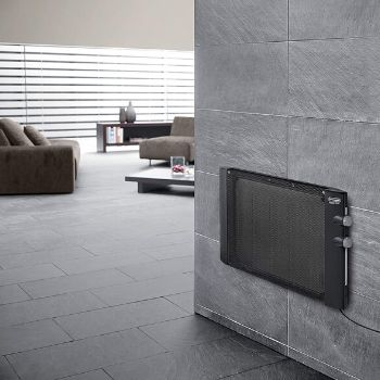 Installing the best portable heaters for large rooms on a wall