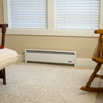 the best hydronic baseboard heaters installed in a carpeted room