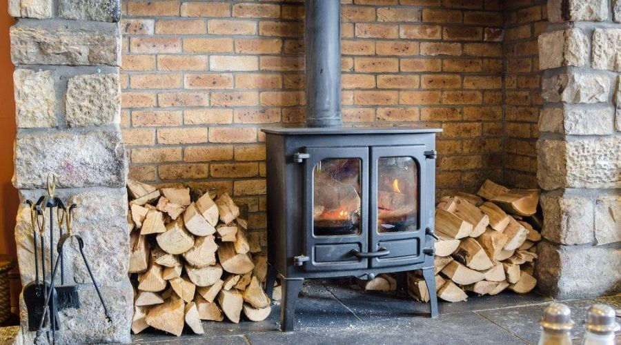 Using the most efficient wood burning stove in a basement