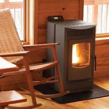 the most efficient wood stove installed in a cabin