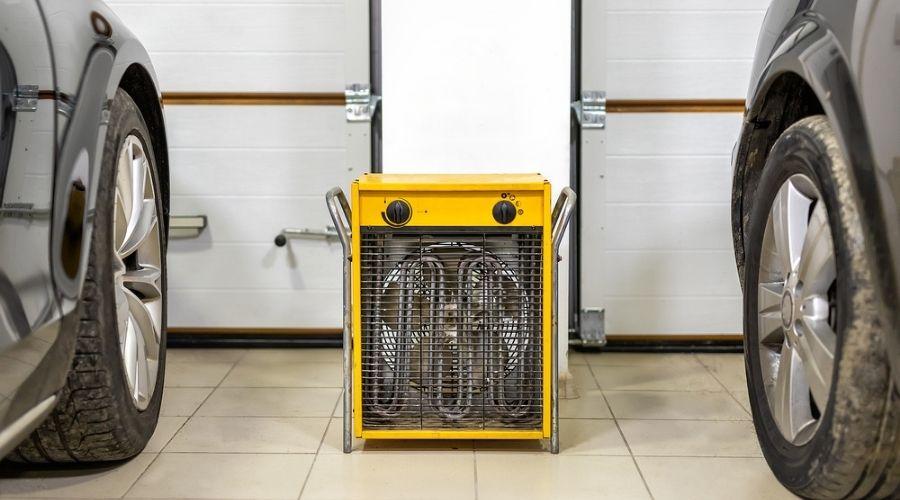 using the most efficient garage heater to heat a 2-car garage