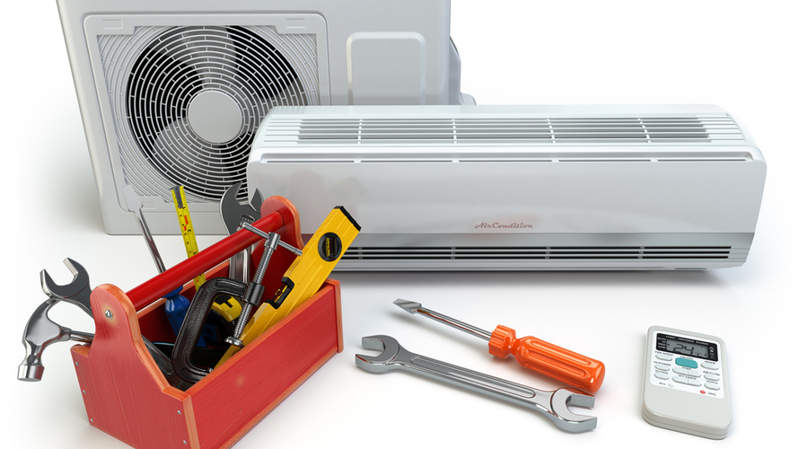 tools for installing a ductless air conditioner for garage
