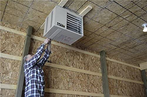 a contractor installer gas ceiling heaters for garage