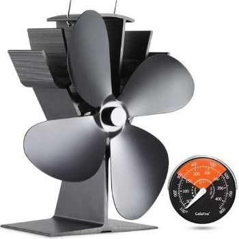 how does the best wood stove fan no electricity work?