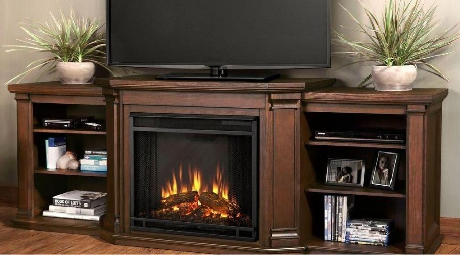 electric fireplace tv stand combo