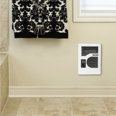 a quiet electric wall heater in a small room