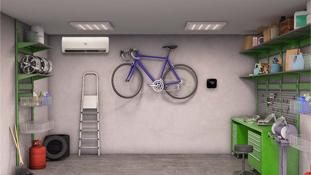 cooling solutions and ac unit for garage with no windows