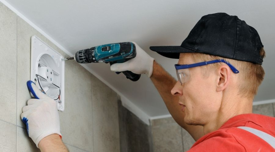 how to install a bathroom exhaust fan through the wall