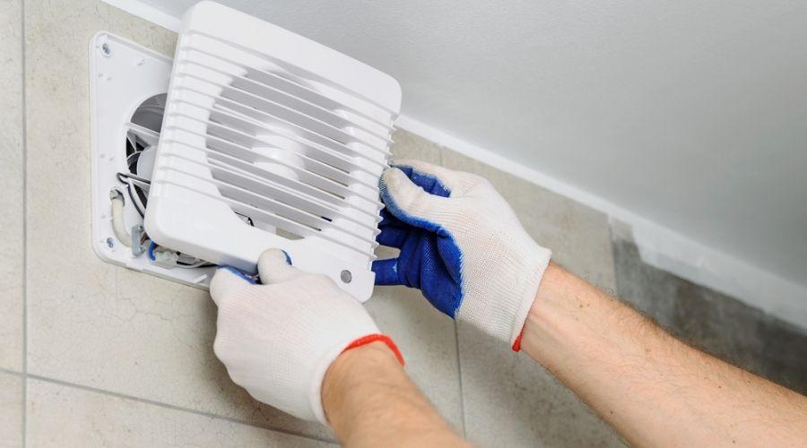 installing bathroom vent through wall