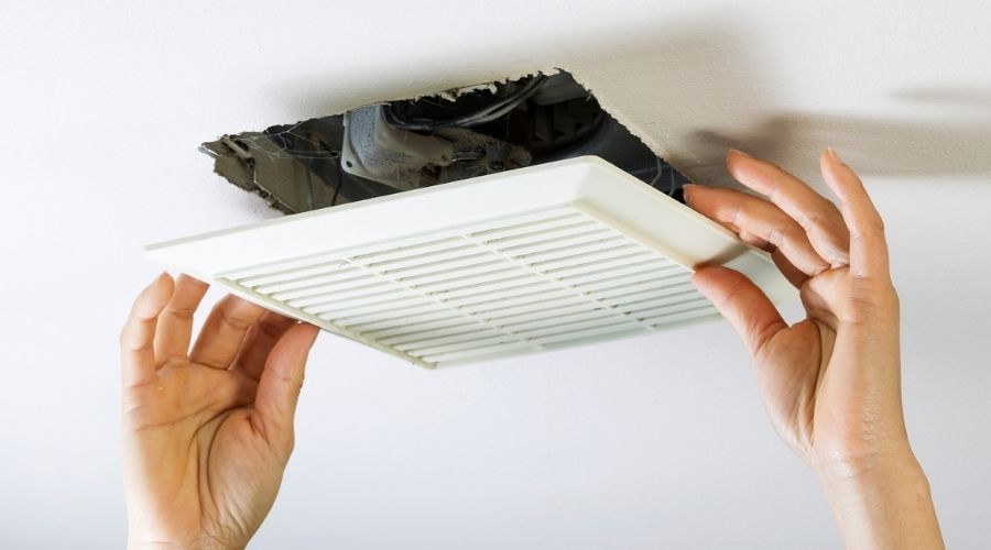 7 steps how to remove bathroom fan housing