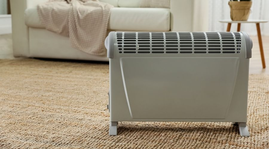 Safety when using space heater on carpet
